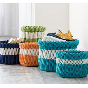 Knitted Basket, Set of 2