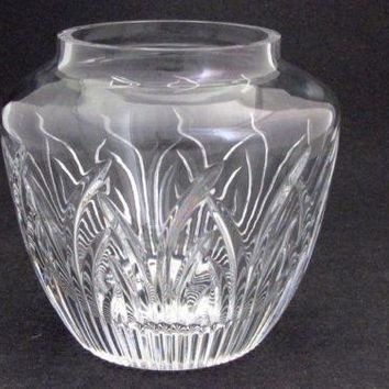 Cut Glass Saratoga candy jar  Lenox USA , bowl /vase /candle