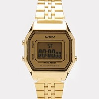Casio Gold Bevelled Watch LA680WEGA-9ER at asos.com
