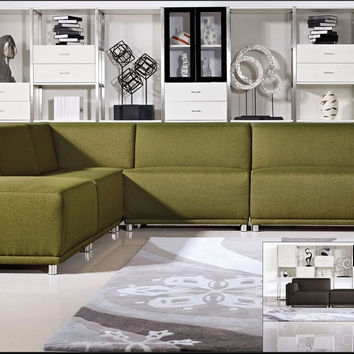 diamond moderna 5 pcs modular sectional sofa set