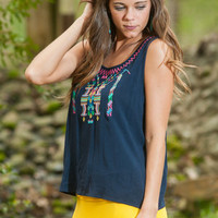 Up In Aztec Tank, Navy