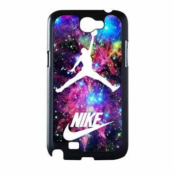 Michael Jordan On Galaxy Nebula New Custom Samsung Galaxy Note 2 Case