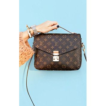 LV Women Shopping Leather Crossbody Satchel Shoulder Bag HZ