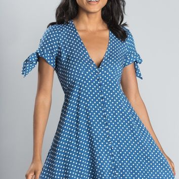 Chelsea Blue Polka Dot Dress