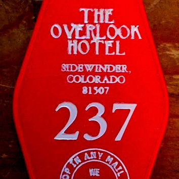 Overlook Hotel Keytag - RED keytag with WHITE lettering