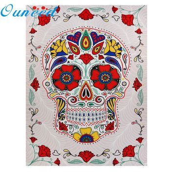 Skull Bone Beach Towel Mat Blanket Printed