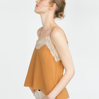 LINGERIE STYLE SILK TOP