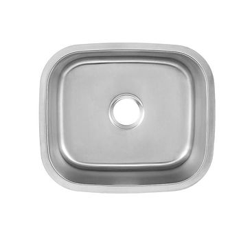 DAX-1720 / DAX SINGLE BOWL UNDERMOUNT KITCHEN SINK, 18 GAUGE STAINLESS STEEL, BRUSHED FINISH