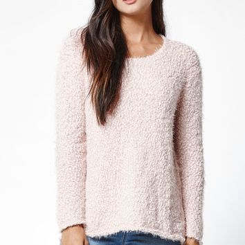 Me To We Cozy Pullover Sweater - Womens Sweater - Pink