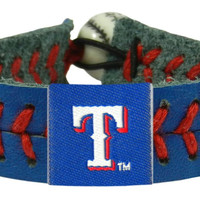Texas Rangers Baseball Bracelet - Team Color Style
