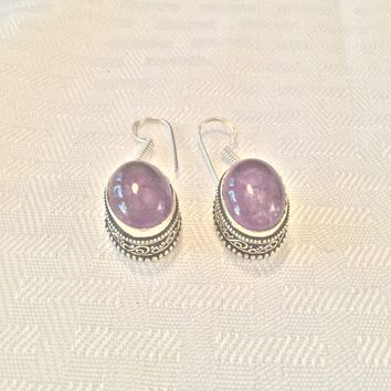 Amethyst Lace sterling silver earrings