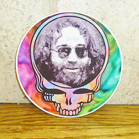 Grateful Dead Jerry SYF Vinyl Sticker -- 4 inches