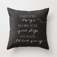 16x16 Dave Matthews Band Pillow Cover, Cushion Cover, Decorative Pillow, Song Lyrics, 40cm Pillow