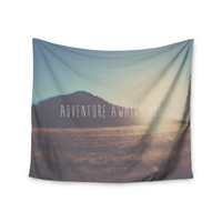 "Laura Evans ""Adventure Awaits You"" Coastal Typography Wall Tapestry"
