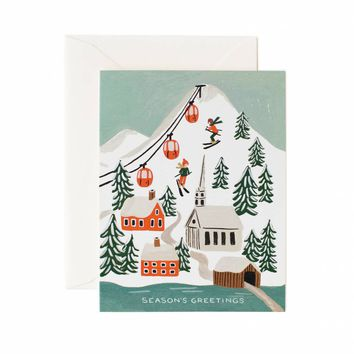 Holiday Snow Scene Greeting Card by RIFLE PAPER Co. | Made in USA
