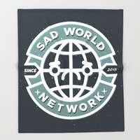 SAD WORLD NEWS NETWORK Throw Blanket by Chobopop