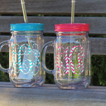 monogrammed tumber, will you be my bridesmaid cup, wedding party favor, wedding party gift, acrylic tumbler, acrylic mason mug, personalized