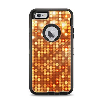 The Bright Orange Unfocused Circles Apple iPhone 6 Plus Otterbox Defender Case Skin Set