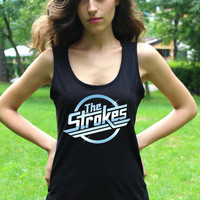 The Strokes Tank Top Tee Shirts The Strokes Shirt Indie Rock Women Sleeveless Tshirt Tank Tops Lady Fit Valueweight Vest Crop Top T Shirt