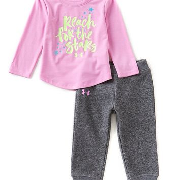Under Armour Baby Girls 12-24 Months Reach For The Stars Long-Sleeve Tee & Pants | Dillards