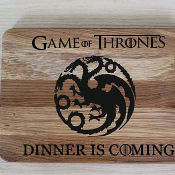 Game of Thrones Cutting board oak cutting board Gift for Him Best gift for Him Oak  cutting board Engraved oak cutting board GOT