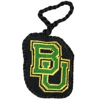 Baylor Needlepoint Christmas Ornament in Black by Smathers & Branson
