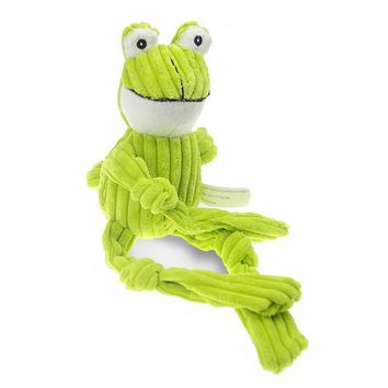 Short Plush Dog Toy Squeaker Pet Items Good Quality Stuffer Corduroy Frog Toy Puppy Production Big dog toys