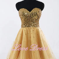 Sweetheart dresses Lace Sequin Mini Prom Dress