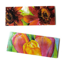 Floral Magnet Set of Two - Watercolor Tulips and Sunflowers