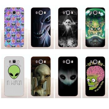 Arkmen Alien Tumblr Quotes Flower Soft TPU Phone Cover Case Capa For Samsung Galaxy A3 A5 A7 J1 J2 J3 J5 J7 2015 2016 2017