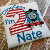 Thomas the Train Birthday Custom Tee Shirt - Customizable -  Infant to Youth