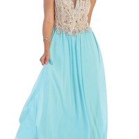 Elegant Long Strapless Sweetheart Sequins Pleated Chiffon Prom Beaded Dress
