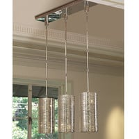 Coil 3 Light Pendant - Polished Nickel