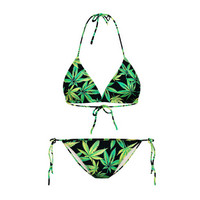 Marijuana Two Piece Bikini Swim Suite