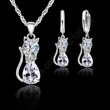 Silver Cat Set
