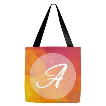 letter a  initial Tote Bags