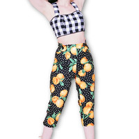 Kitty Pedal Pusher Pants in Juicy Oranges