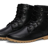 Retro Men's Buckle Boots 2 Color Options