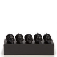 Mini Skull Candles (Set of 5)