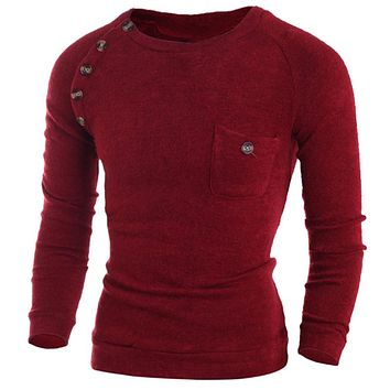Fashion Slim Fit Button Sweaters For Men Super Quality Underwear Sweaters For Men Men Clothing