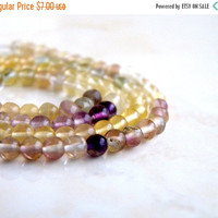49% Off Sale Multi Fluorite Gemstone Smooth Round bead 3.5mm Full strand 100 beads Wholesale