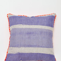 Stripe Pillow - Blue + Orange