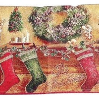 Tache Festive Christmas Hung With Care Table Runner (DB14605)