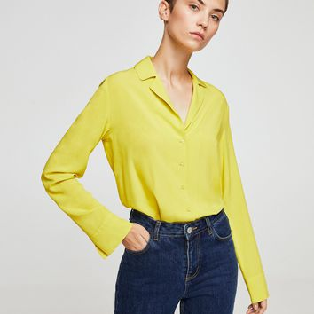 Buttoned flowy shirt - Women | MANGO USA