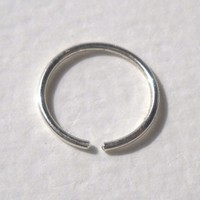 925 Sterling Silver Pierced Nose Ring,Earring G20 10mm