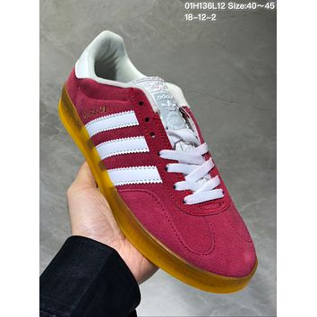 DCCK A483 Adidas Superstar Gazelle Fashion Casual Skate Shoes Red