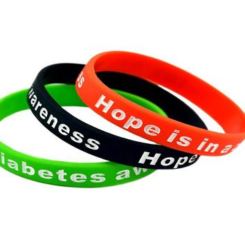Hope is in A Cure Diabetes Awareness Silicone Wristband