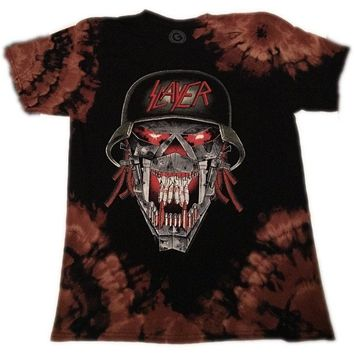 "Hand Bleached Slayer "" War Head"" Band Tee"