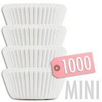 Solid White MINI Baking Cups 1000 pk