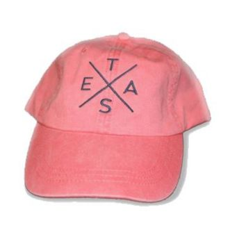 Big X Texas Hat - Coral